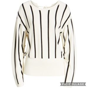 Trouble Ivory Black Becky Strive Sweater